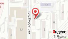 Гостиница Арена Новокузнецк на карте