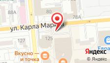 Отель Новотель Красноярск Центр на карте