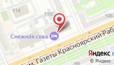 Гостиница Снежная сова на карте