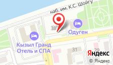 Гостиница Одуген на карте