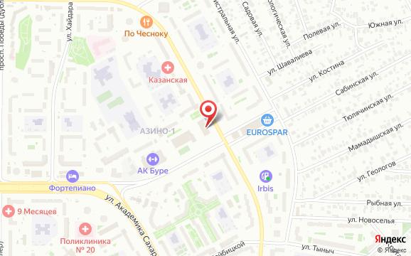 Ак Буре на карте