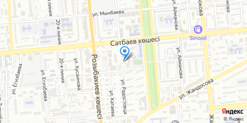 Yandex map image with office location in Kazakhstan