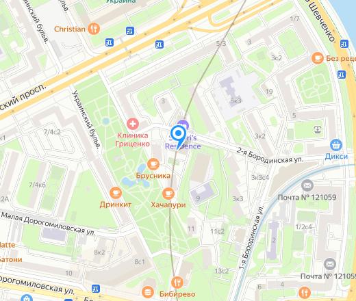 прогнать сайт 2-я Бородинская улица