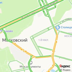 Город Московский на карте