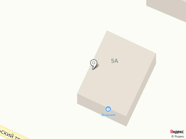 Алания на карте