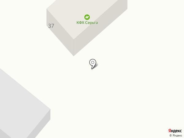 Серьга на карте