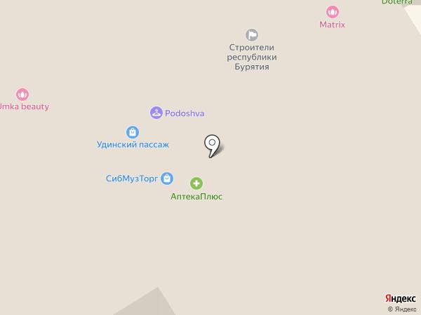 Удинский Пассаж на карте