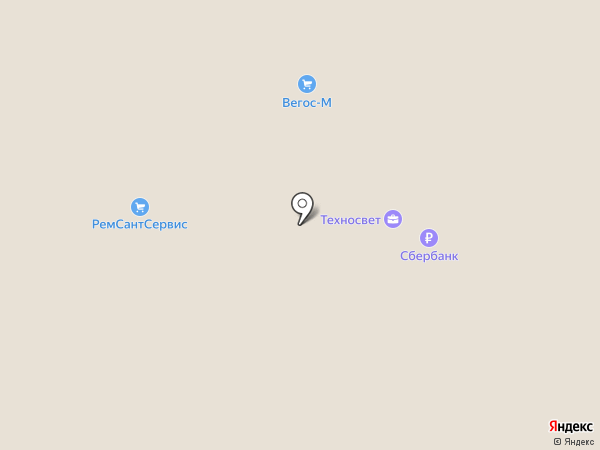 Вегос-М на карте