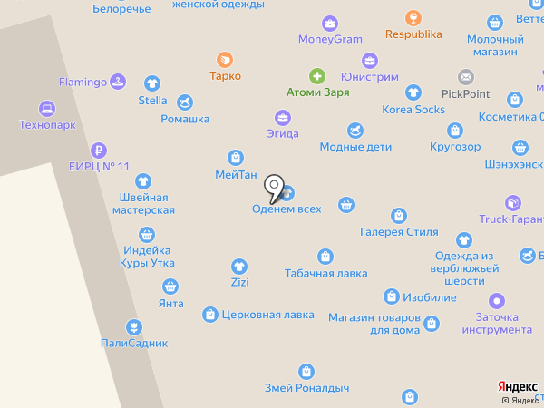 Смайл на карте