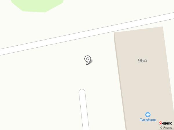 Тигренок на карте