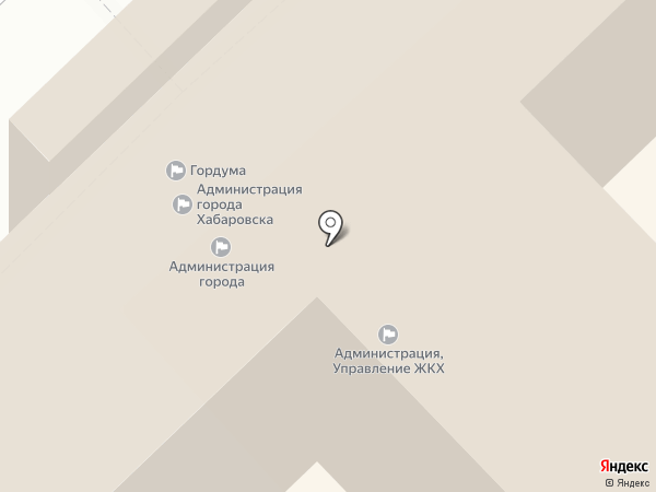Хабаровская городская Дума на карте