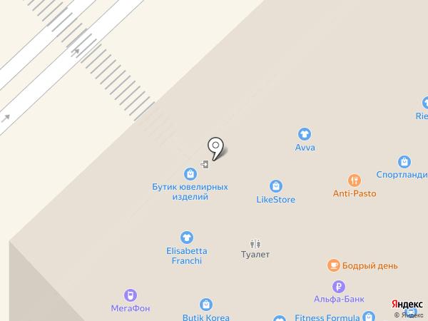 Тианде на карте