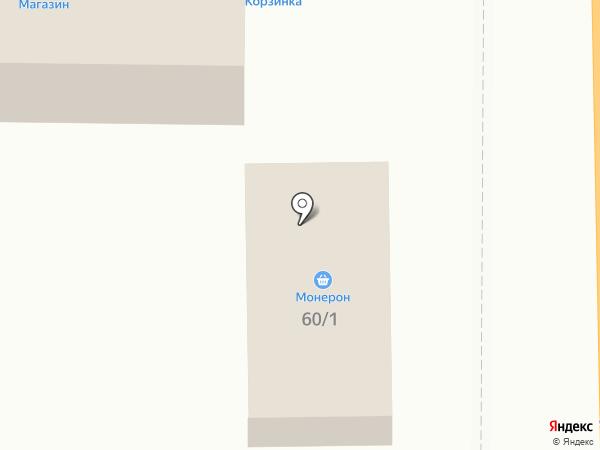 Монерон на карте