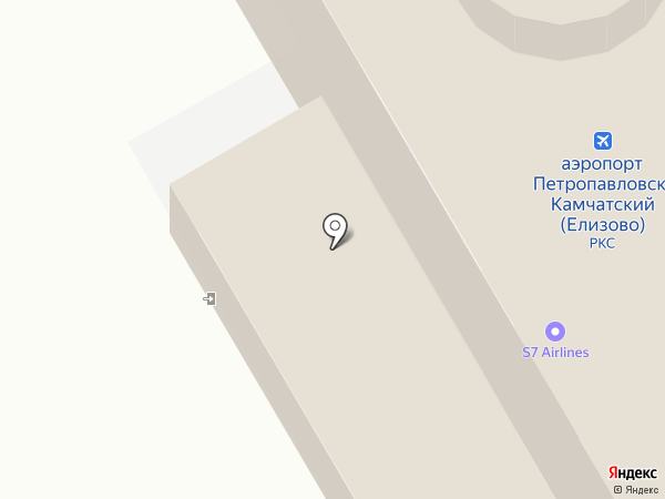 Международный аэропорт на карте