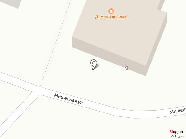 Домик в деревне на карте