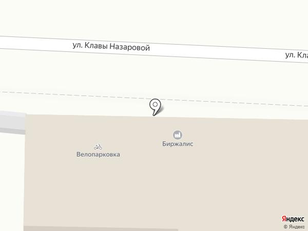 Биржалис на карте