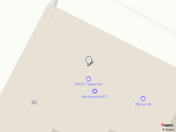 Красный квадрат на карте
