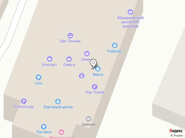 Юбилейное на карте
