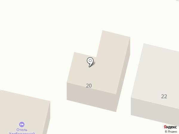 Хлебодарский на карте