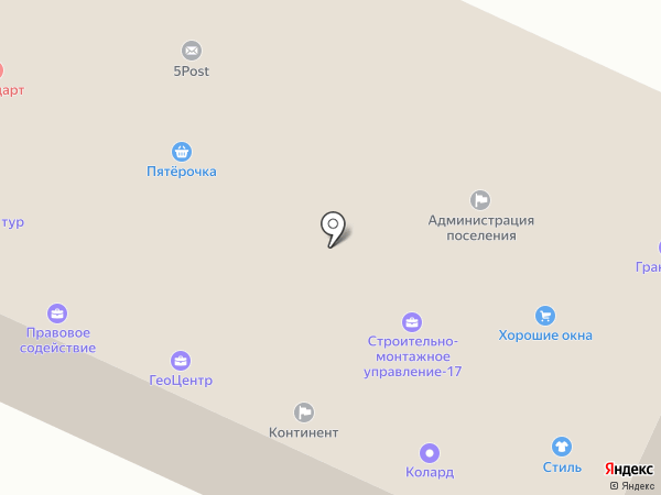 Континент на карте