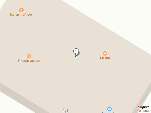Автомоечный комплекс на Рославльской на карте