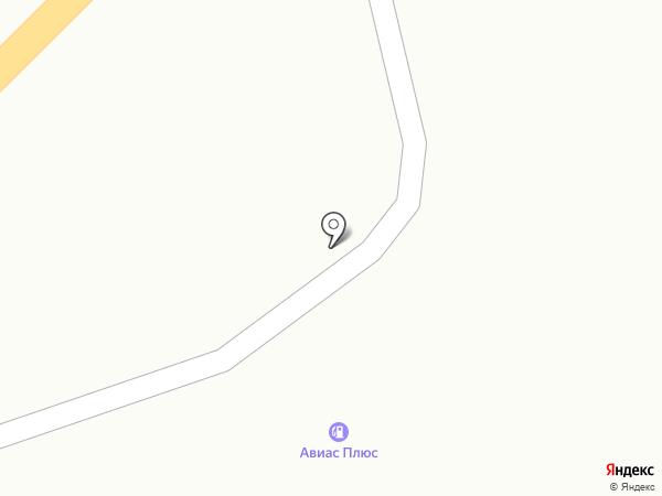 АЗС АВІАС плюс на карте