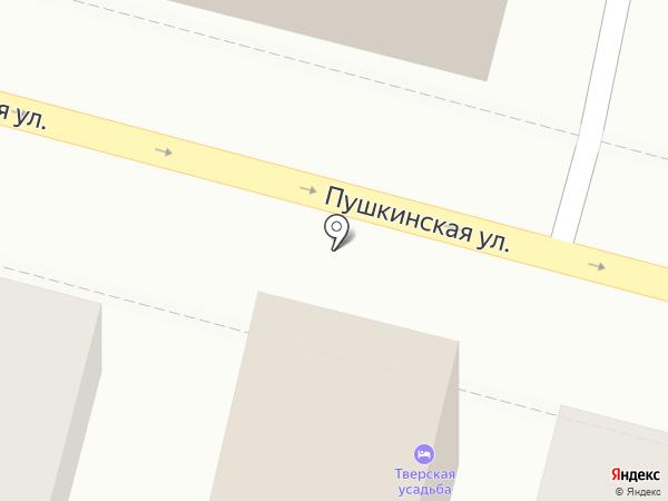 Тверская усадьба на карте
