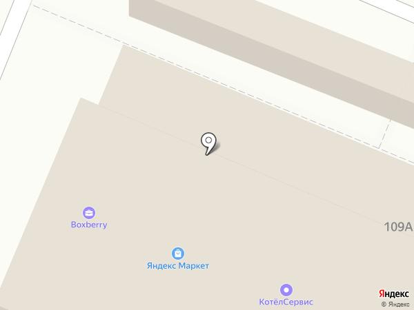 Листок на карте