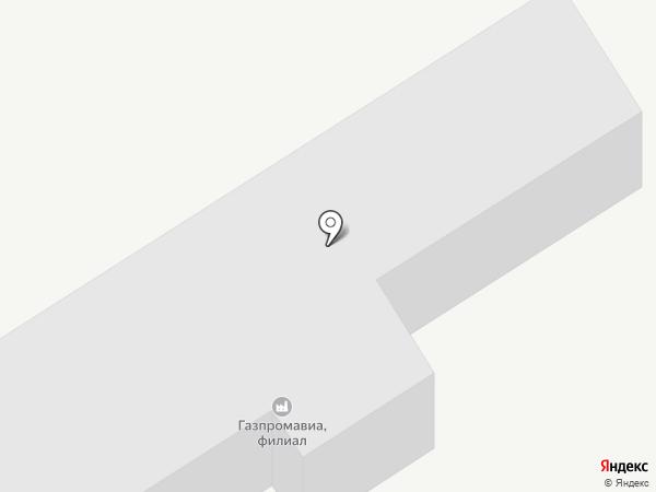 Газпромавиа на карте