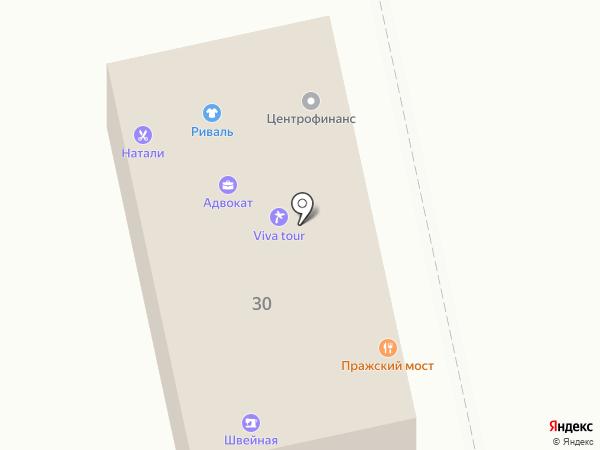 Пражский мост на карте