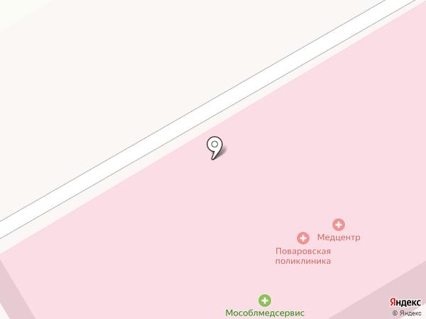Поваровская поликлиника на карте