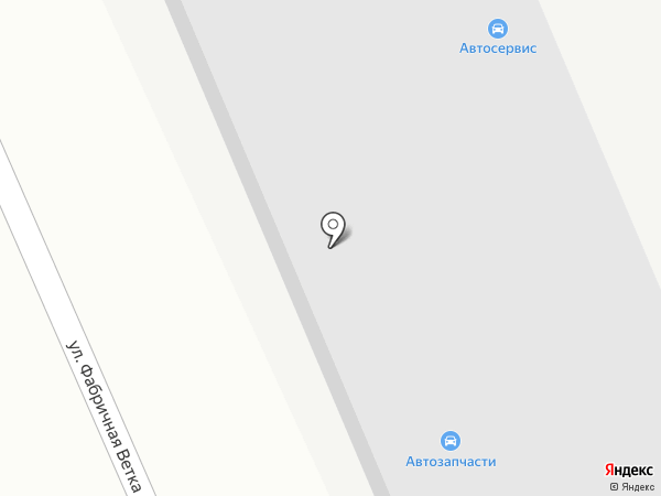 Автомойка на ул. Фабричная Ветка на карте