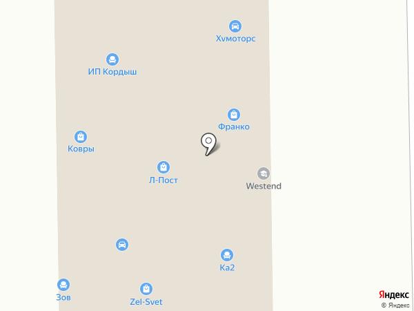 Вектор Альфа на карте