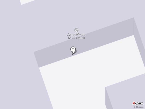 Детский сад №37, Лучик на карте