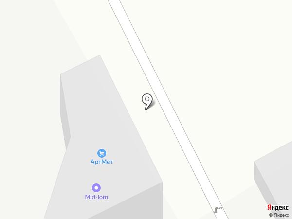 Металлик на карте