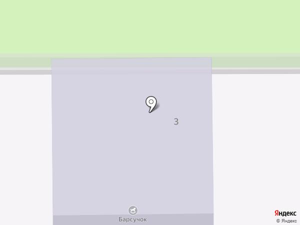 Барсучок на карте
