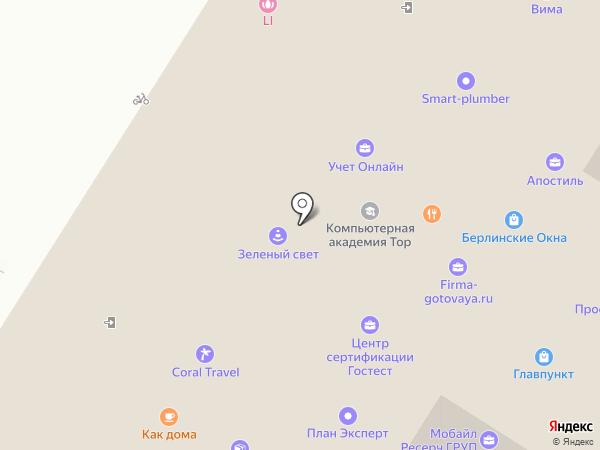 Оконный Континент на карте