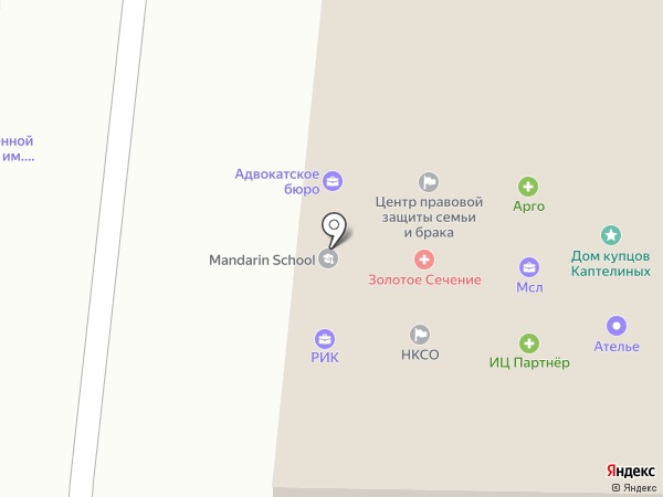 Адвокатский кабинет Зеленова М.Ф. на карте