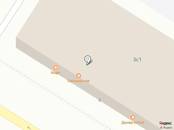 Офицерское на карте