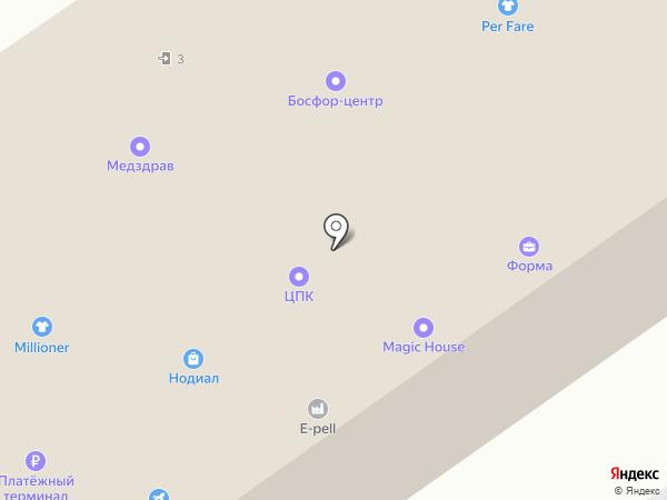Территория Окон на карте