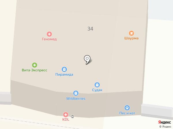 Дина на карте