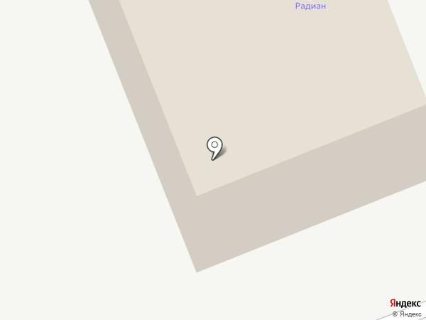 Радиан на карте