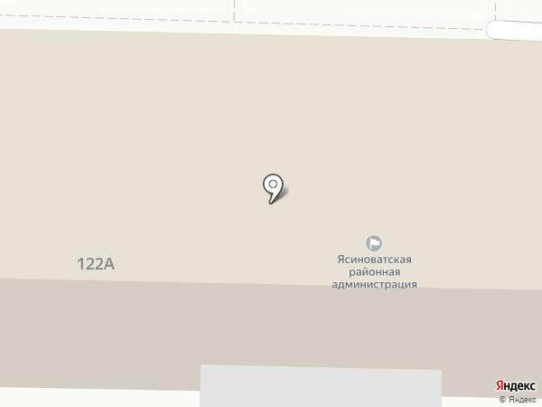 Ясиноватский районный совет на карте