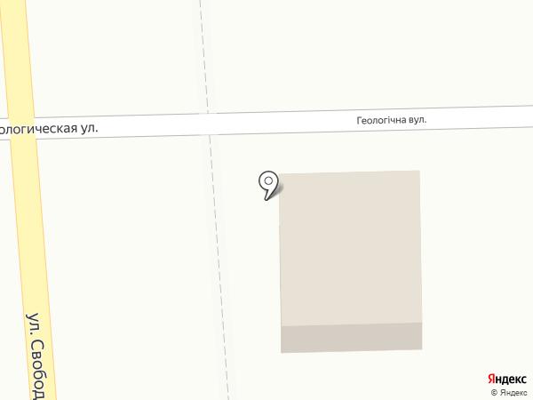 Мастерская на Геологической на карте