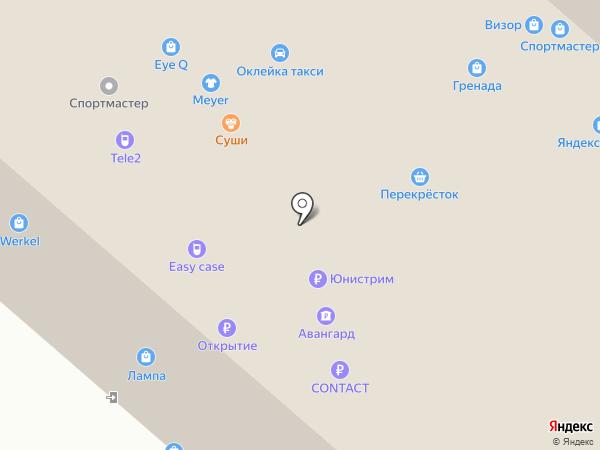Банкомат, Интерпрогрессбанк на карте
