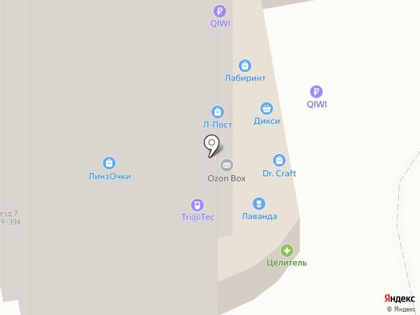 Целитель на карте
