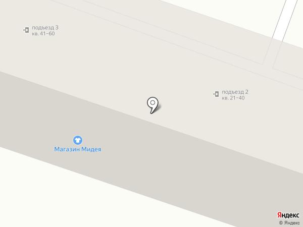 Мидея на карте