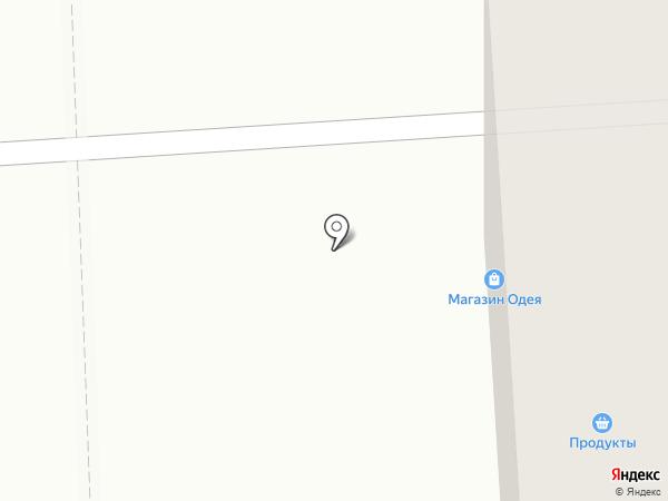 Одея на карте