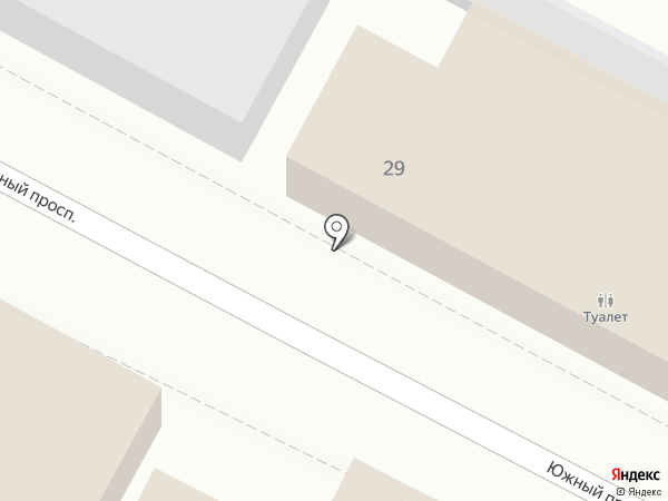 Платный общественный туалет на карте