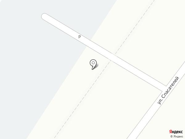 Автостоянка на ул. Спасателей на карте